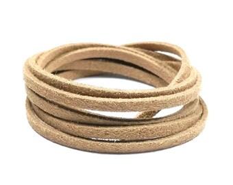 3 m cord 3 x 1.5 mm Tan