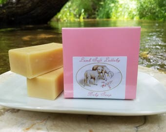 """Baby Soap - """"Lamb Soft Lullaby"""" Unscented Soap, Pink Soap, Sheep Soap, Lamb Soap, Baby Shower Soap, Baby Girl, Baby Gift Soap, Castile Soap"""