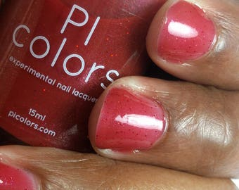Betelgeuse.021 Nail Polish Berry Red with Red Glitter