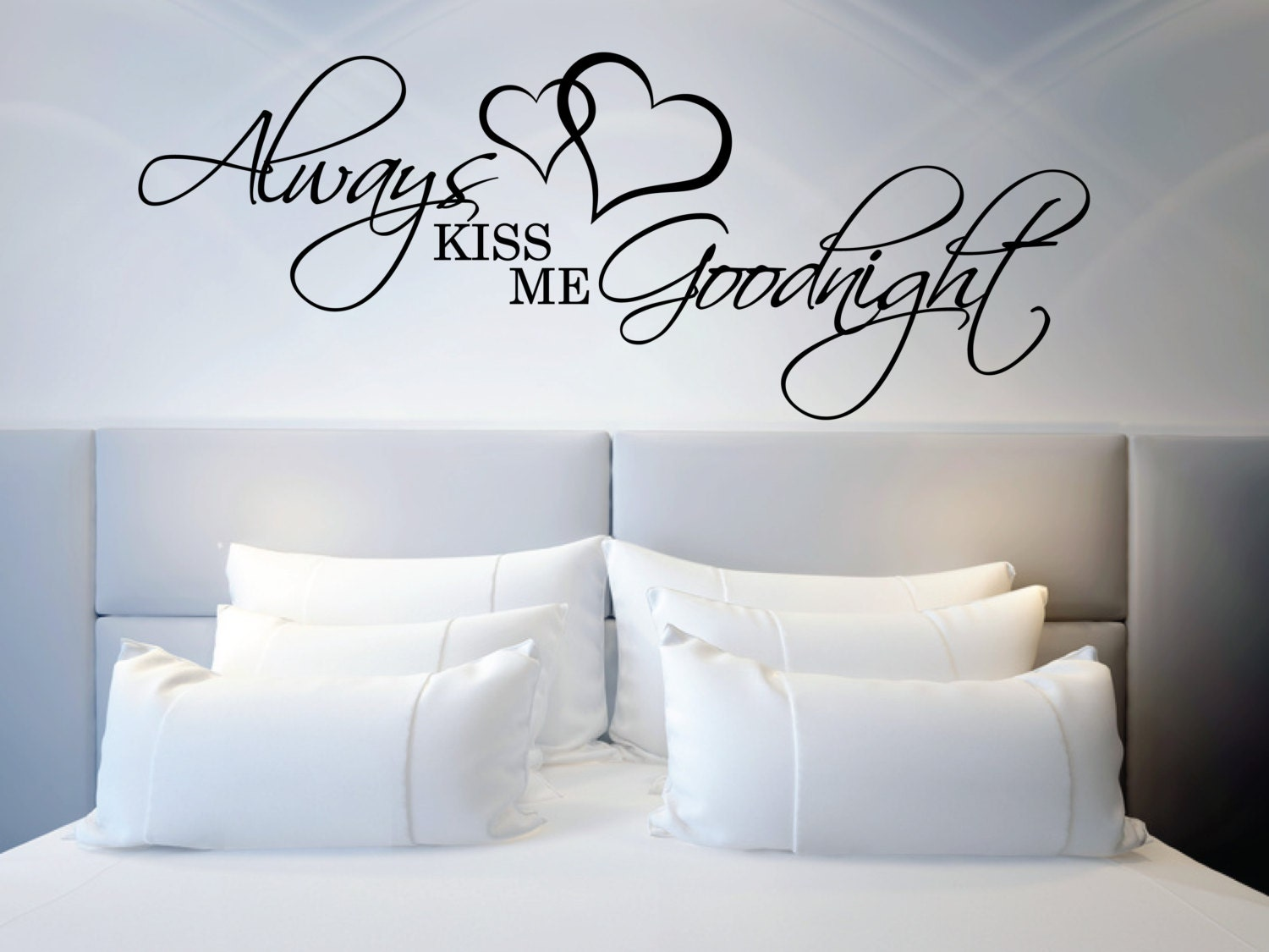 zoom Above Bed Wall Sticker Love Quote