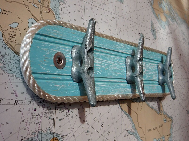 Wall Hook Rack Galvanized Boat Cleats Beach Towel Hook