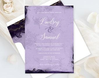 Wedding Invitations - Opulent Violet (Style 13854)