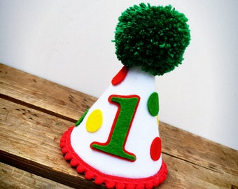 Party Hat, Birthday Hat, Smash Cake Hat, Hungry Caterpillar Party Hat, Felt Party Hat, Dog Birthday Hat, First Birthday Hat