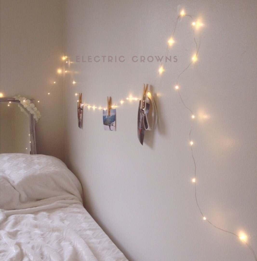 Night light fairy lights bedroom home decor living room for How to light up a room
