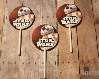 BB8 Cupcake Toppers