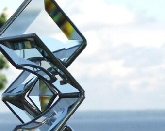 3D Stained Glass Star Sundrop Sculpture Suncatcher