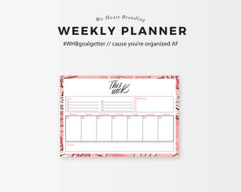 This Week - Weekly Planning Printable (Pink & Peach)