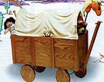 Covered Wagon Toybox Woodworking Plans