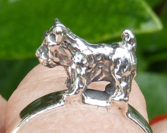 Cairn Terrier-Toto-Dog-Ring-Sterling Silver
