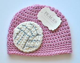 Newborn Volleyball Hat - Pink Baby Hat