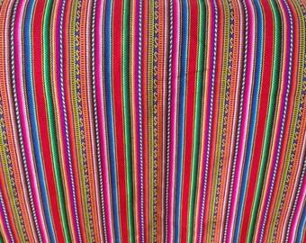 Tribal Fabric -  stripes fabric  - Peruvian fabric - Aguayo blanket