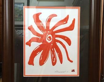 Orange Swirl Flower