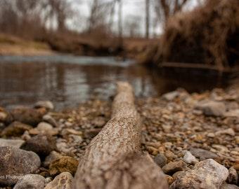 Kline Creek Farm: Rocky River Bank --Photography-- 8x12