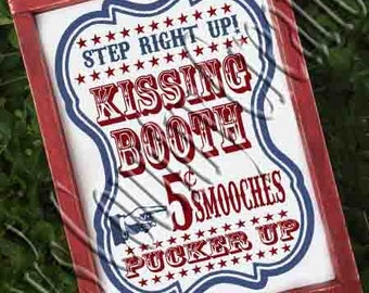 Kissing Booth   SVG, PNG, JPEG