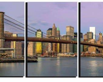 Manhattan Art, Brooklyn Bridge Wall Art,New York,Brooklyn Bridge,Manhattan Sunset, Large Wall Art,Brooklyn Bridge Wall Art, Living Room Art