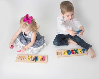 Train Toddler Name Puzzle with Train - up to 9 letters
