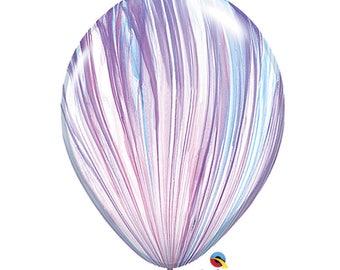 """Pastel Marble Balloons 11"""", Super Agate Balloons 11"""", Pastel Multicolor Balloon 11"""",  Unicorn Balloon 11"""""""