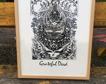 Hand pulled Grateful Dead Print from 1960s