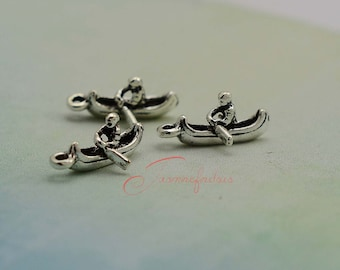 20PCS--18x8mm ,Boat Charms, Antique Silver 3D Rowing Charm pendant, DIY supplies,Jewelry Making