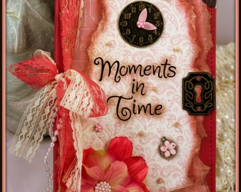 "Vintage Inspired Leather Journal ""Moments In Time"" 240 Pages"