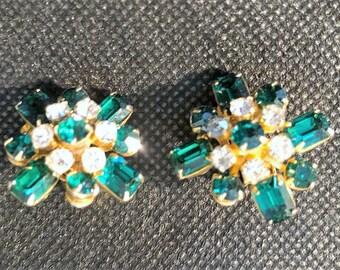 Coro Emerald Green and Diamonds