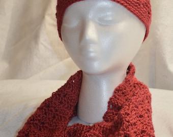 Handmade Crochet Hat & Cowl Set