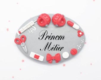 nurse badge, nursery teacher, caregiver Fimo