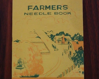 Vintage needles sewing book, Farmers needle book, vintage needles from 1950-1960, vintage naalden, Antique needles