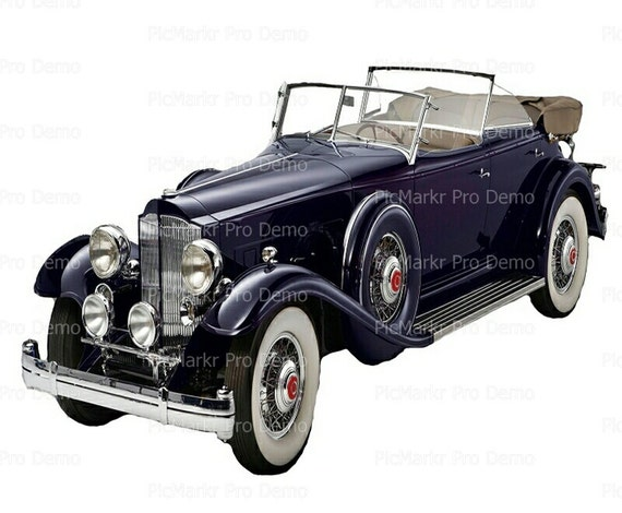 Classic Car Antique - Edible Cake and Cupcake Topper For Birthday's and Parties! - D9194