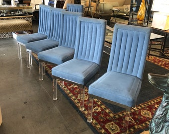 Set/6 Charles Hollis Jones style dining chairs