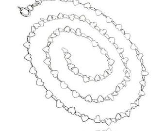 Chain Hearts Sterling Silver 925