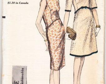 Vintage 1962 Vogue 5560 UNCUT Sewing Pattern Misses' One-Piece Dress Size 14 Bust 34