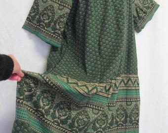 Hippie Dress Paisley Caftan Boho Caftan Indian Caftan Tent Dress