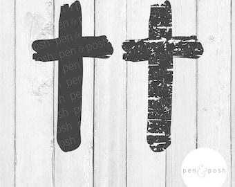 Cross SVG - Grunge Cross SVG - Distressed Cross SVG - Christ Svg - Easter Svg - Christian Svg - Grunge Svg - Cross Tshirt - Cross Shirt File