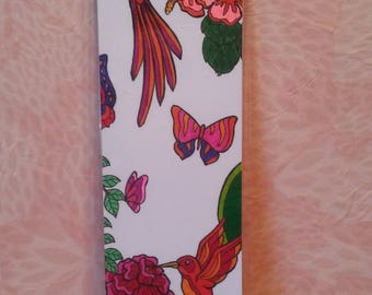 Bookmark - red Hummingbird