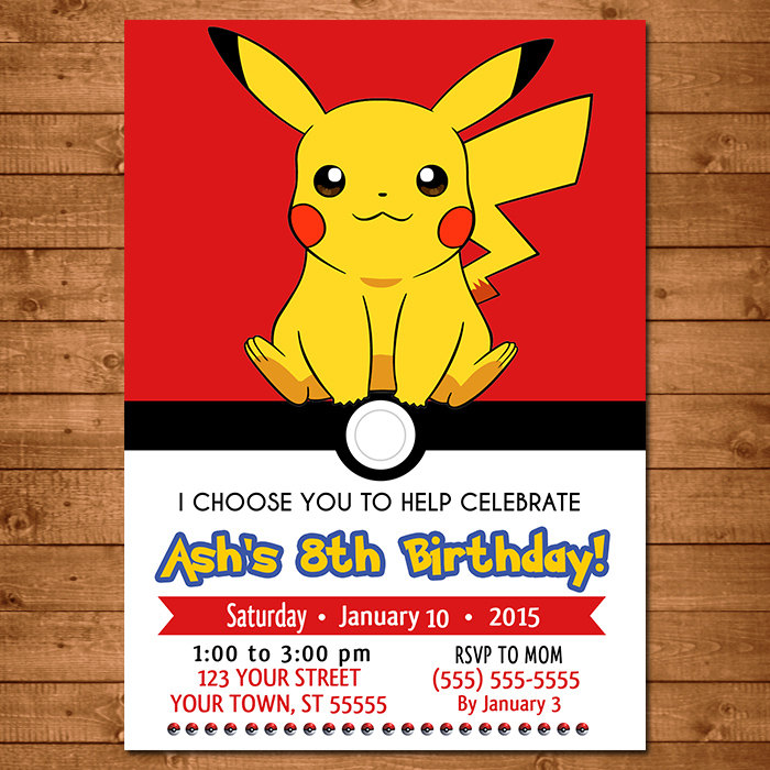 Declarative image with pokemon party invitations free printable