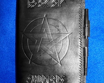 Leather Eldar FUTHARK Runes Book of Shadows