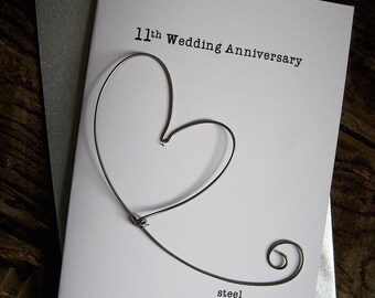 Th anniversary card etsy