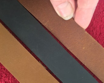 "Leather Strap, 1"" wide Brown /Black leather strip Steampunk belt blank 30, 45, 60, 72, 80 inch long, purse straps, belt 1 inch wide. 6 foot"