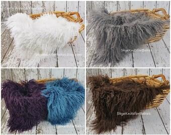Newborn Fur Photo, Curly Alpaca Faux Fur, Baby Photo Prop, Faux Fur Fabric, Newborn Photography Backdrop, Basket Stuffer, Faux Fur Prop, RTS