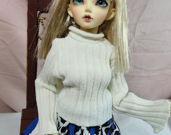 MSD BJD Sweater Cream Ribbed