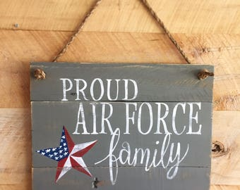 Military Family Reclaimed Wood Sign