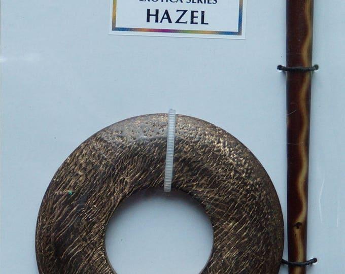 Hazel textured wood shawl pin