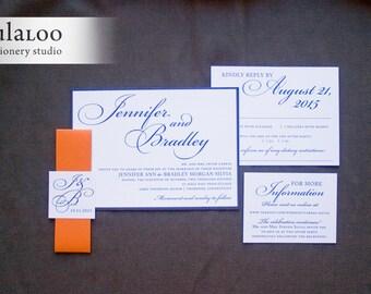 "Sophisticated Wedding Invitation Sample - ""Thompson"""