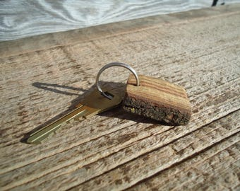 Rustic wood key chain, Hickory wood Key ring, Wood key chain, Rustic Key chain, Wooden key chain, Wood carving, Key chains, Rustic gift