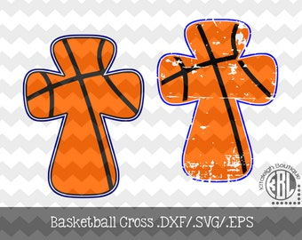 Basketball Cross Files INSTANT DOWNLOAD in dxf/svg/eps for use with programs such as Silhouette Studio and Cricut Design Space