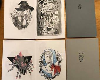 Inktober 2017| Portrait Sketch Art Collection Book Zine