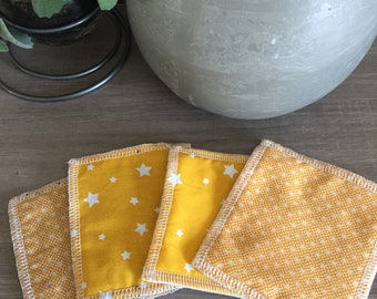 Small yellow wipes in gold