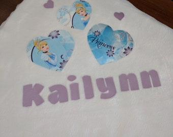 Personalized minky baby blanket