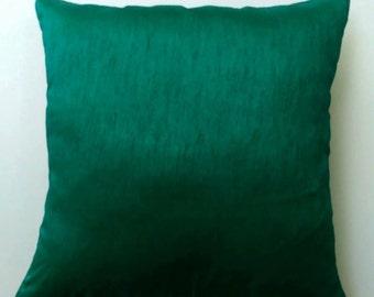 Jade green art  silk pillow.  throw pillow. silk  decorative pillow   on discount.  18 inch pillow cover. below price  is  for 2 pcs